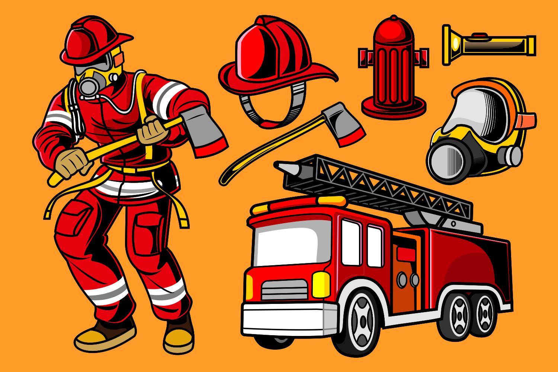 Детская картинка пожарной части