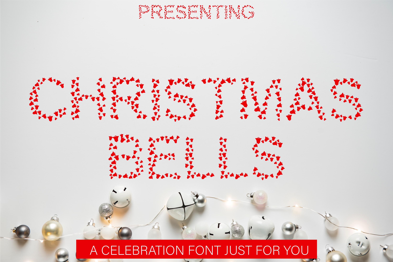 Christmas Bells Font - A Fun & Cute Christmas Font example image 1