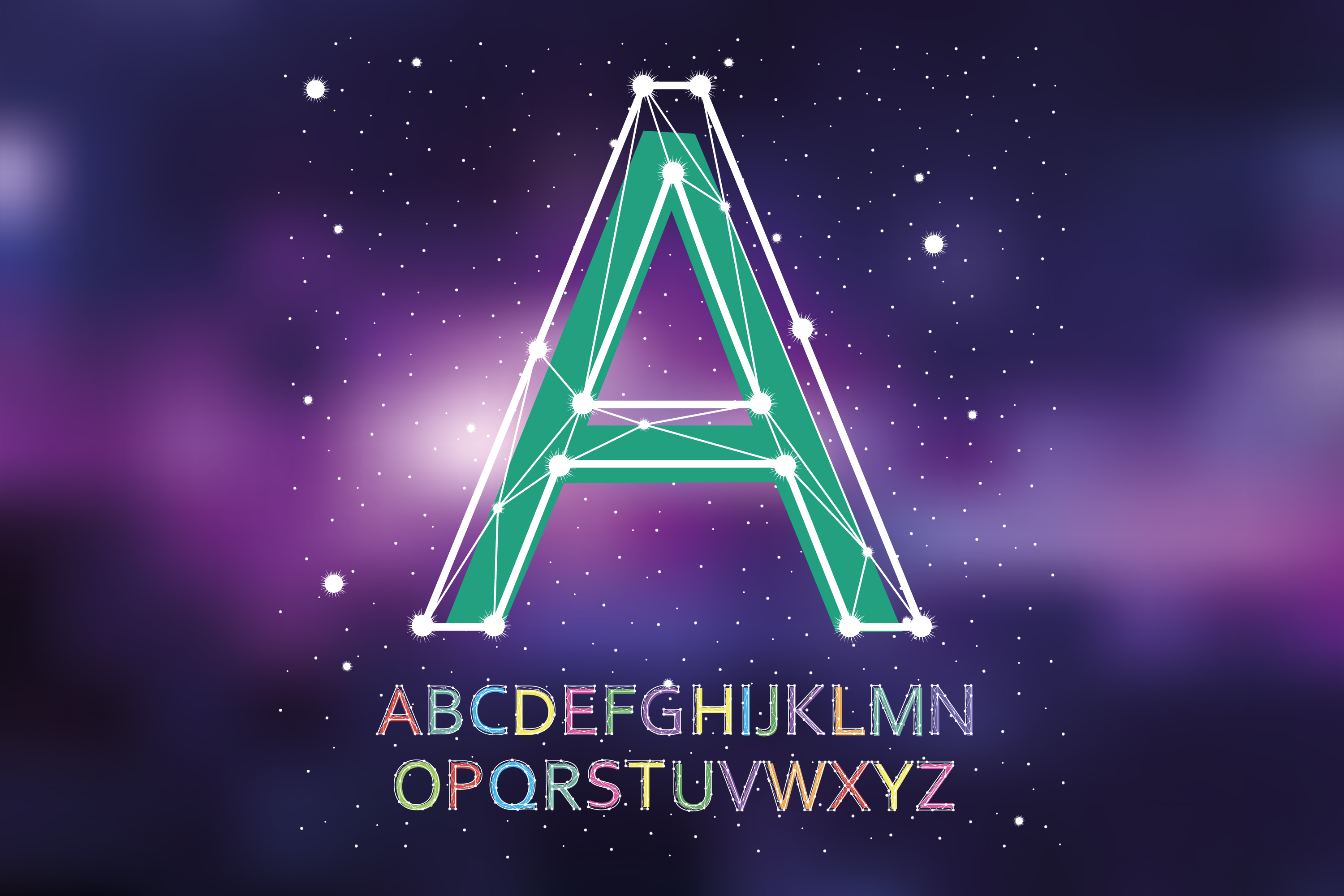 Font constellation example image 2