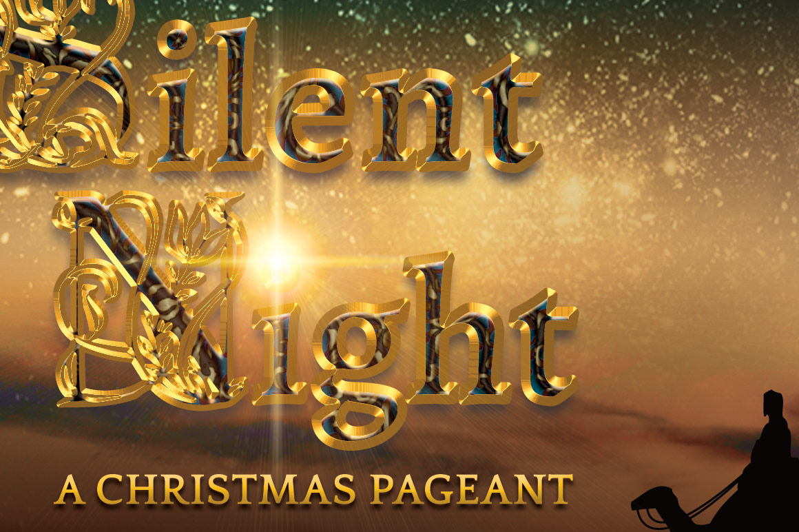 Silent Night Postcard Template example image 7