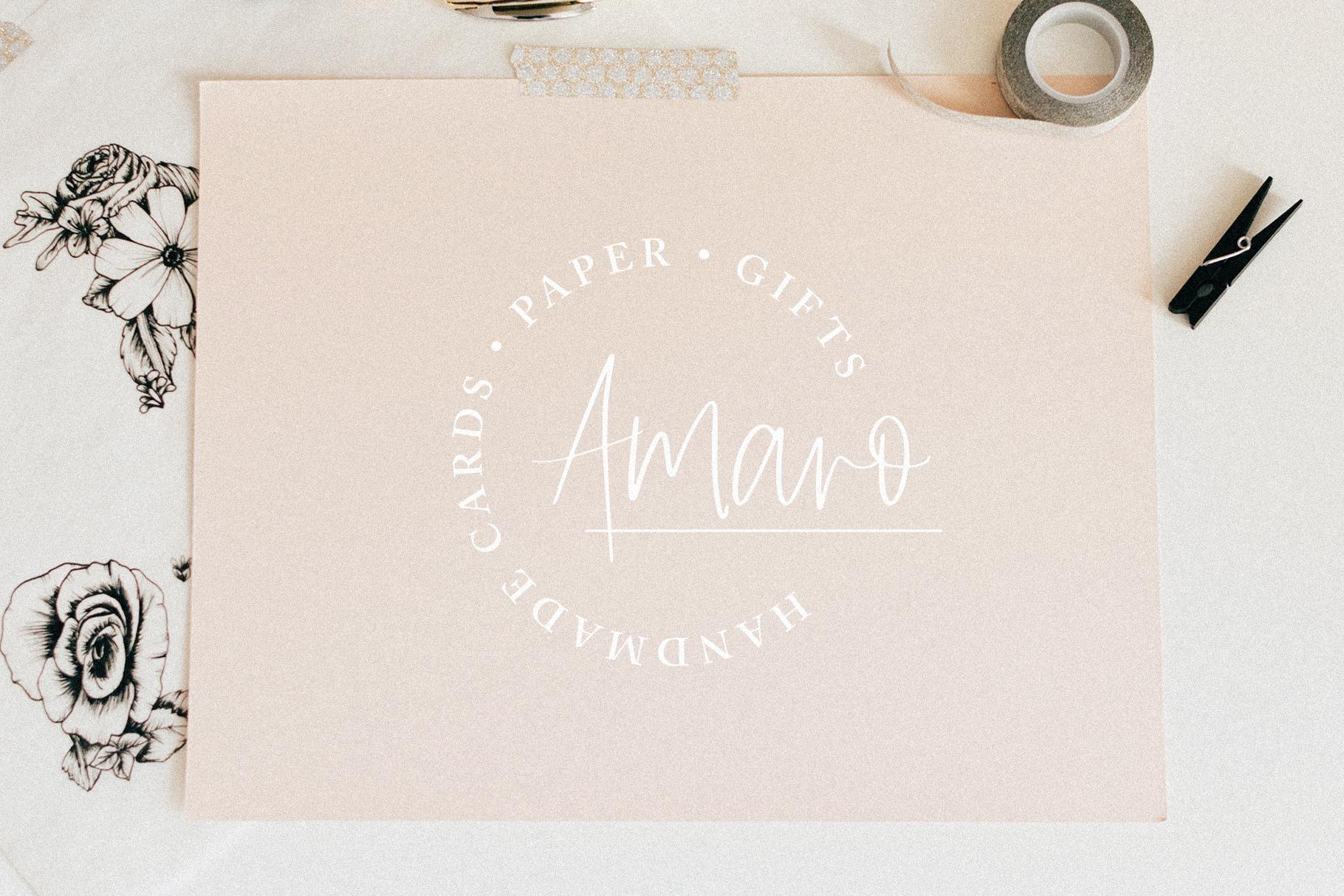 Amaro | Script 6 Free Logos example image 6