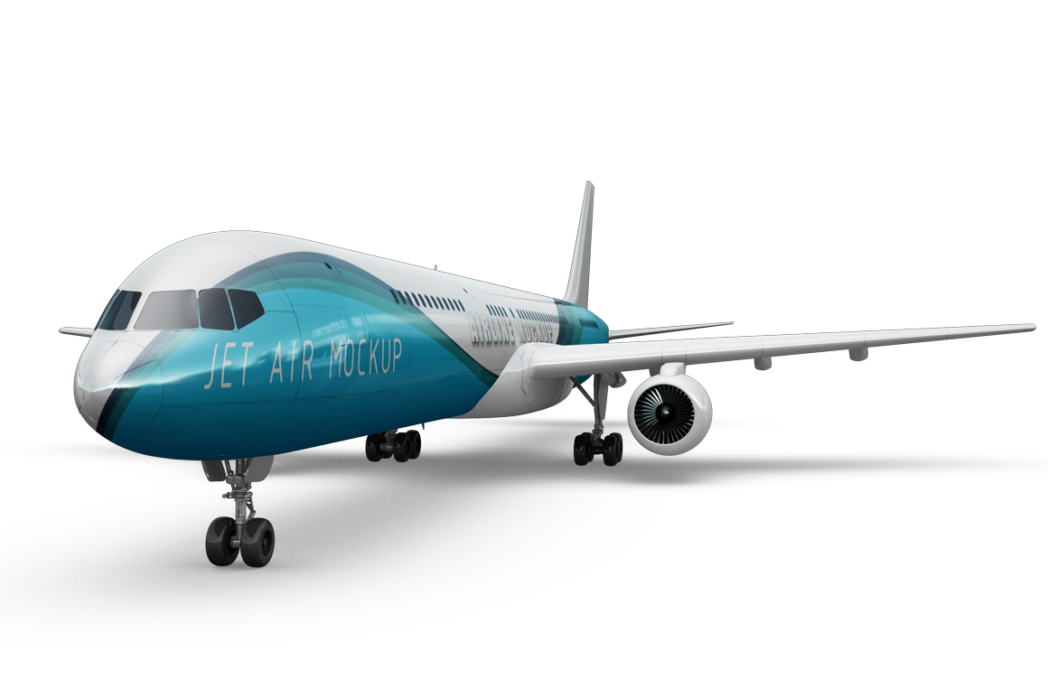 Jet Airplane Mockup example image 6