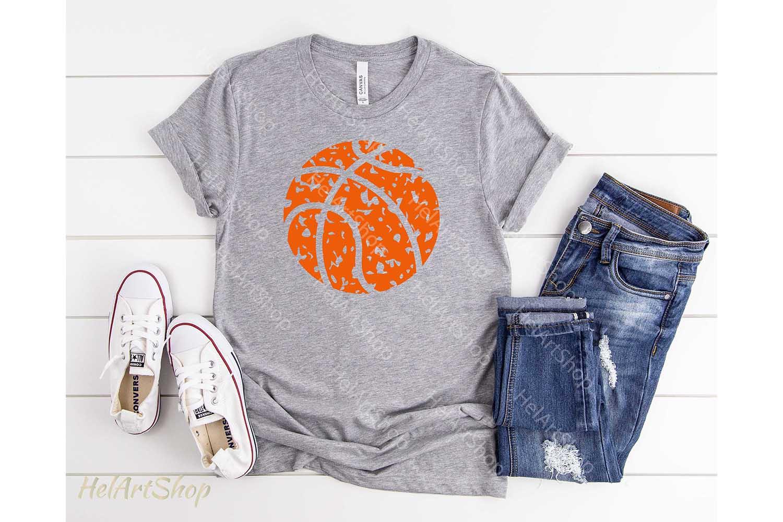 Basketball Ball svg, Distressed svg, Grunge example image 2