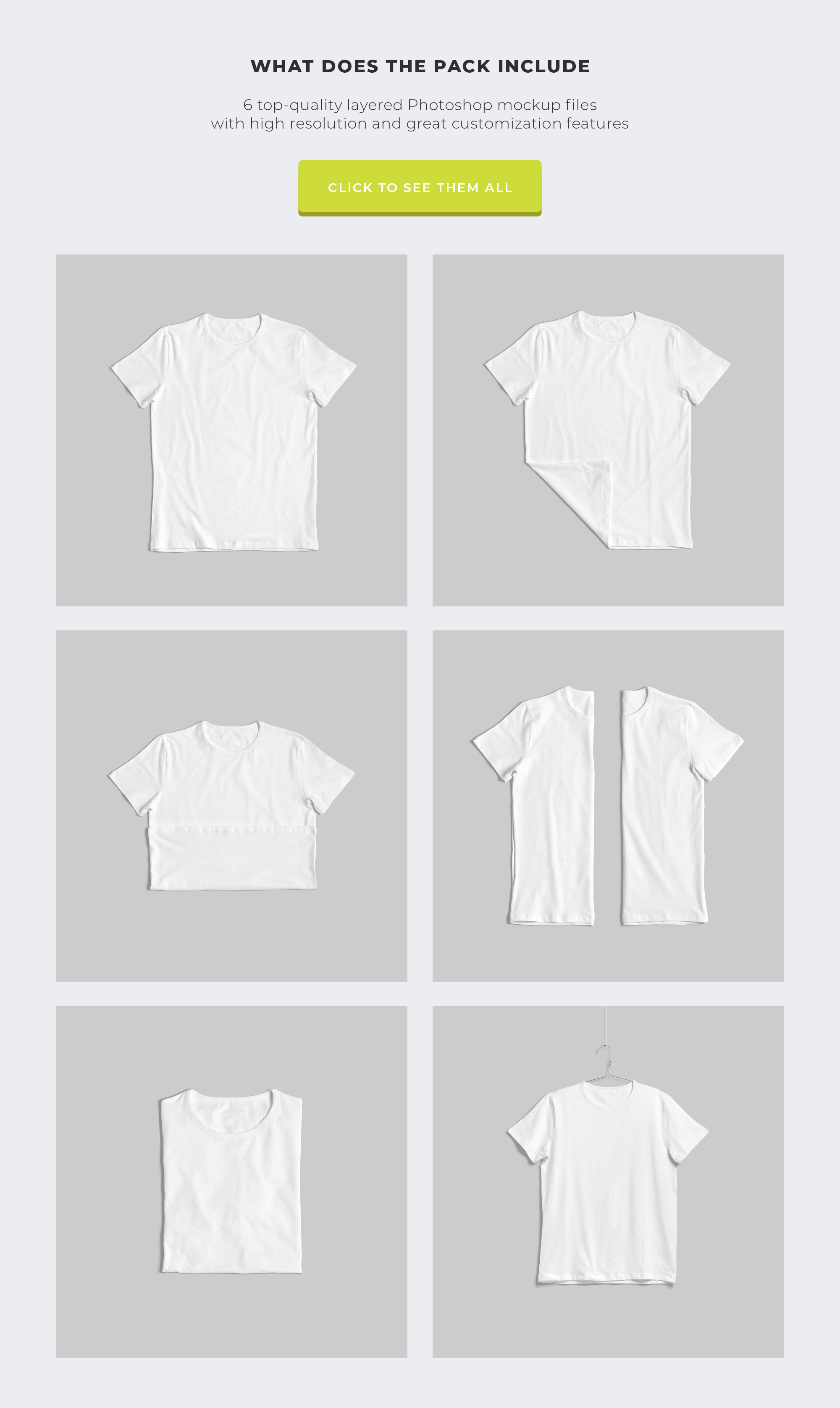 Customizable T-Shirt Mockups Pack example image 13