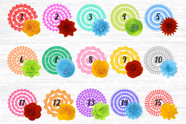 Rolled Flower svg, 3d flower svg, Paper Flower svg example image 2