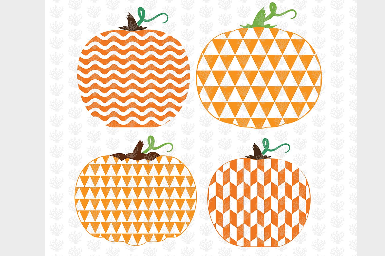 Big Halloween Bundle - 12 Decorative Pumpkin SVG EPS DXF PNG example image 4