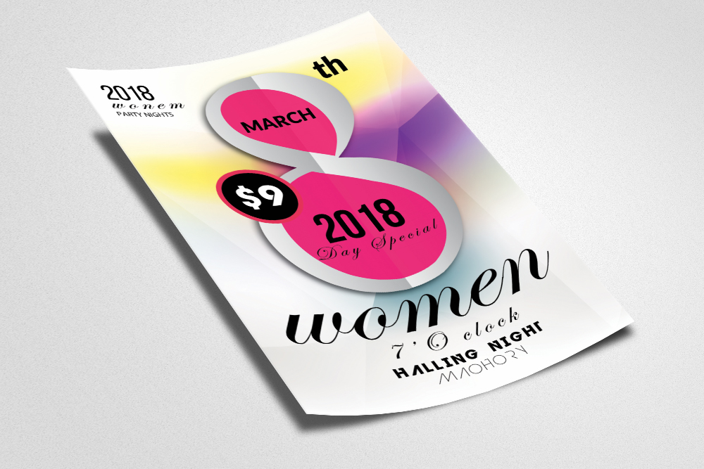 Women's Day Flyer example image 2