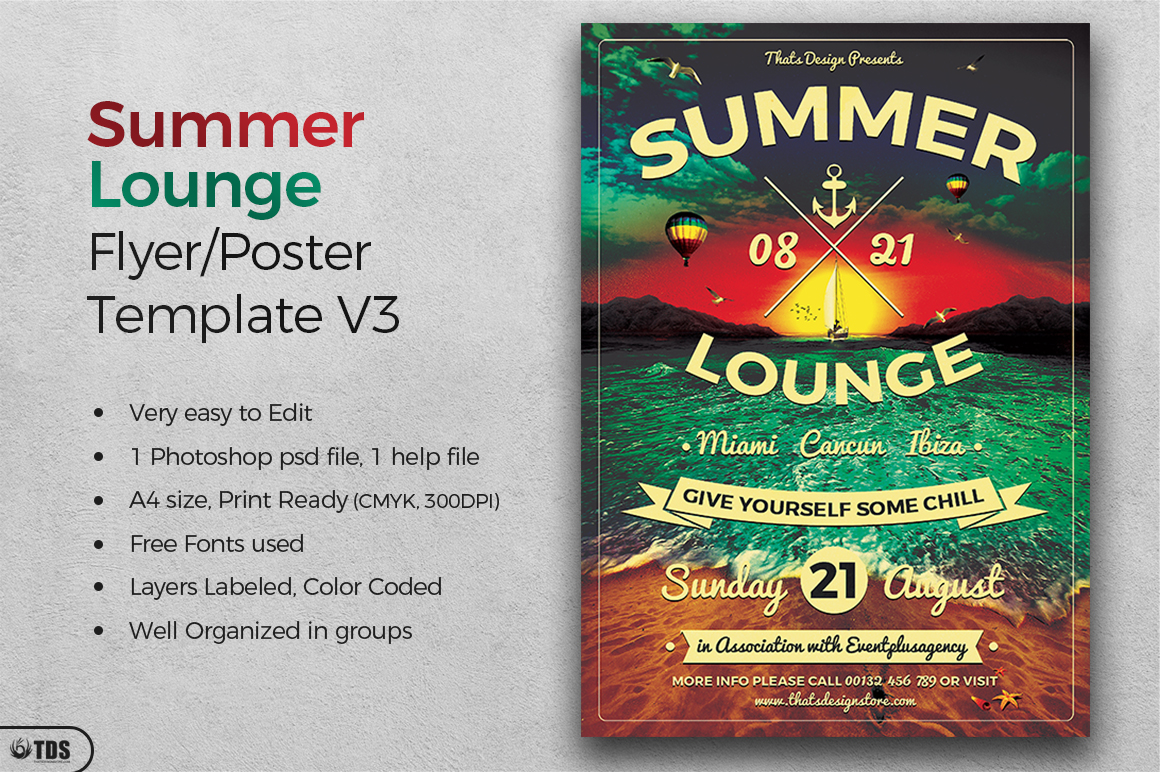 Summer Lounge Flyer Template V3 example image 2
