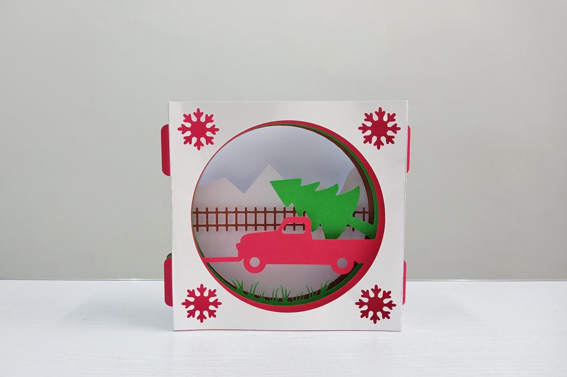 DIY Christmas Card - 3d papercraft example image 3