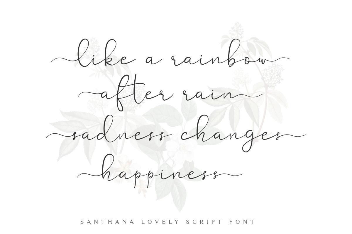 Santhana Lovely Script Font example image 5