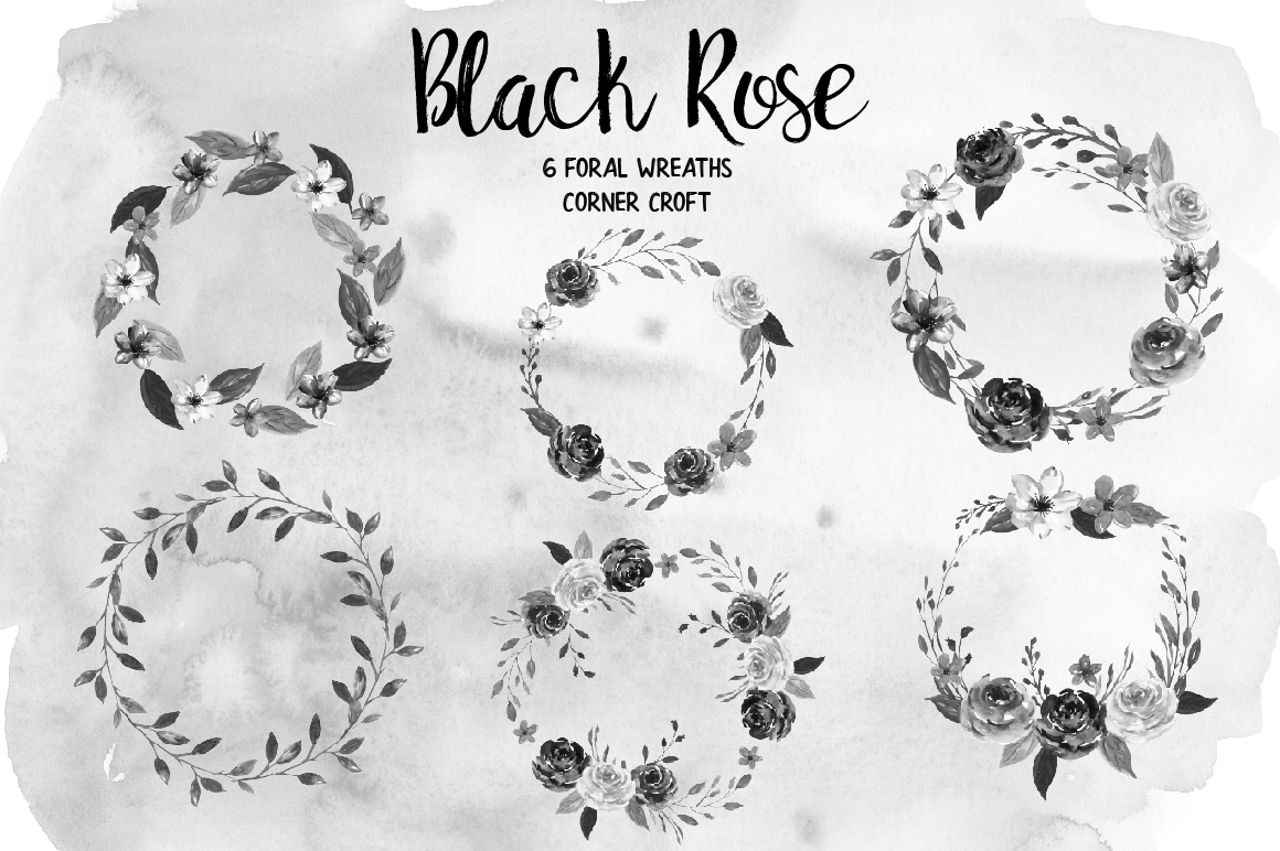 Watercolor Collection Black Rose example image 3