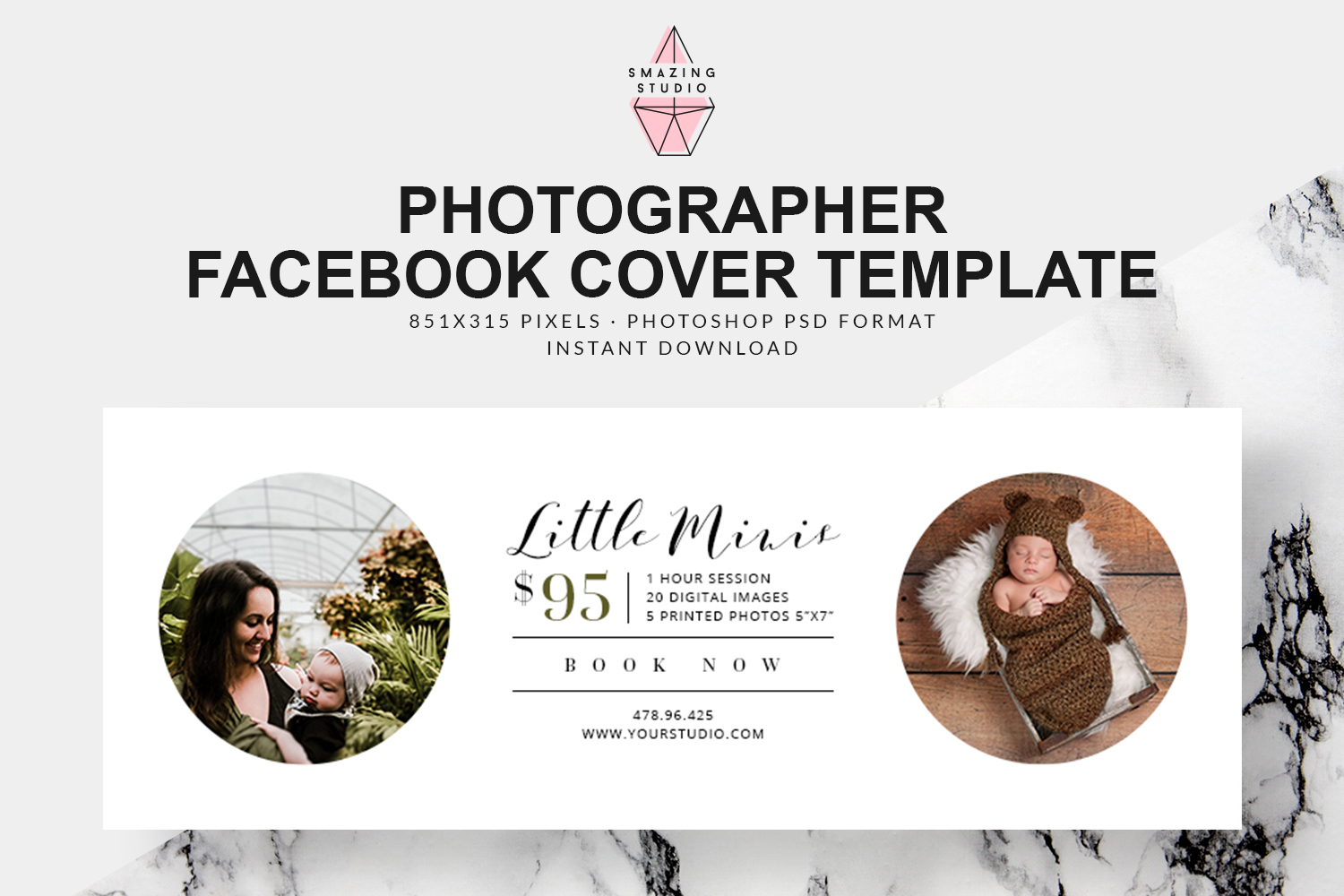 Photographer Facebook Cover Template - FBC002 example image 1