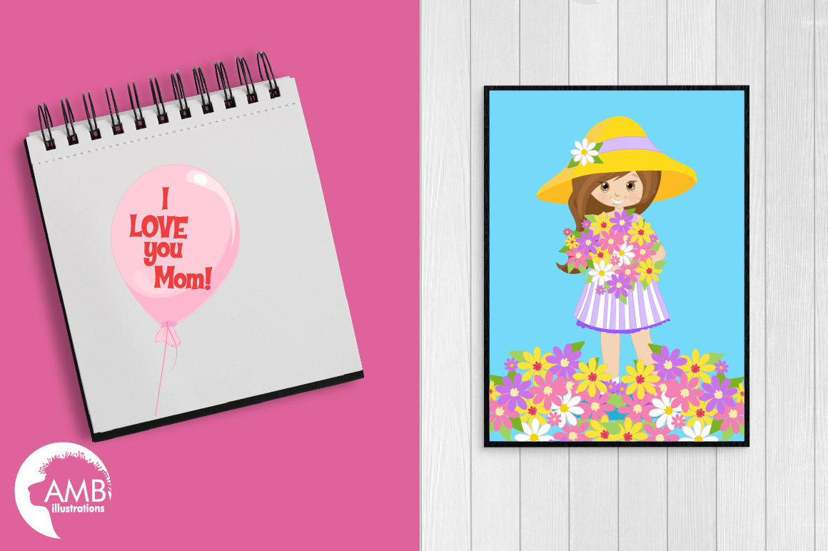 Mothers Day graphics, clipart, illustrations AMB-1934 example image 3