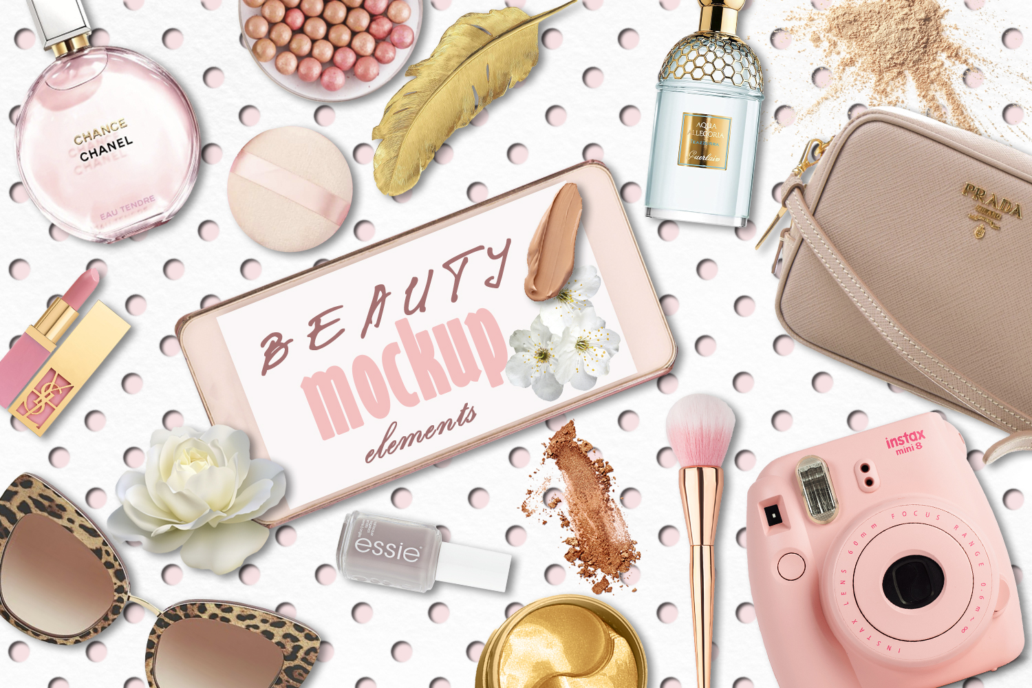 Beauty mockup elements and backgrounds example image 1