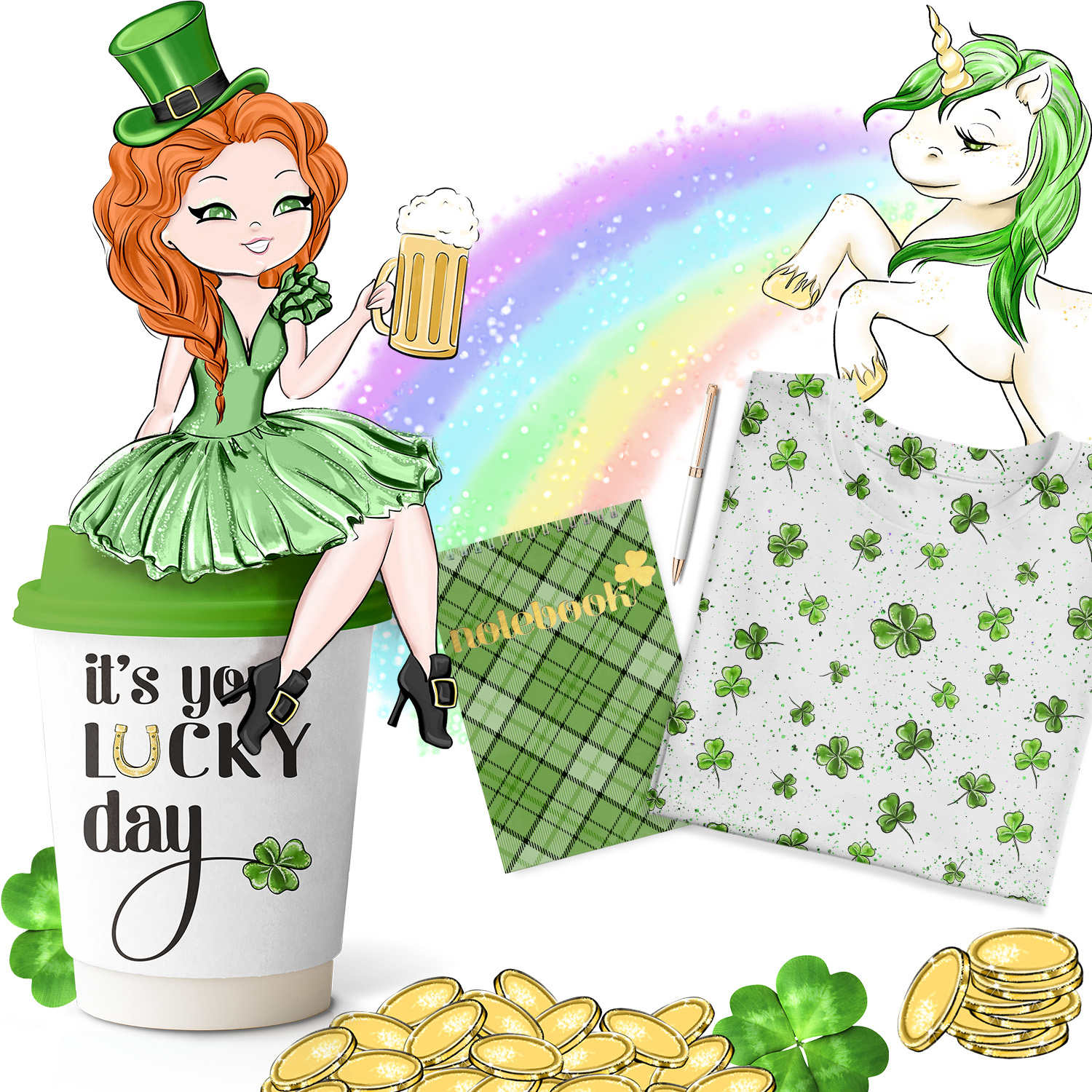 Its Your Lucky Day - Clipart example image 7