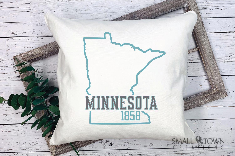 Minnesota, 10,000 Lakes - slogan, PRINT, CUT & DESIGN example image 9