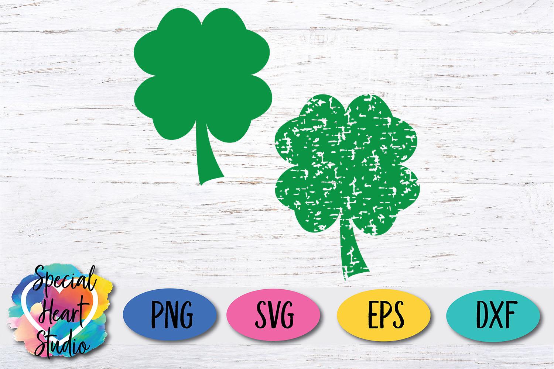 Grunge Shamrock SVG - A fun St. Patricks Day cut file example image 2