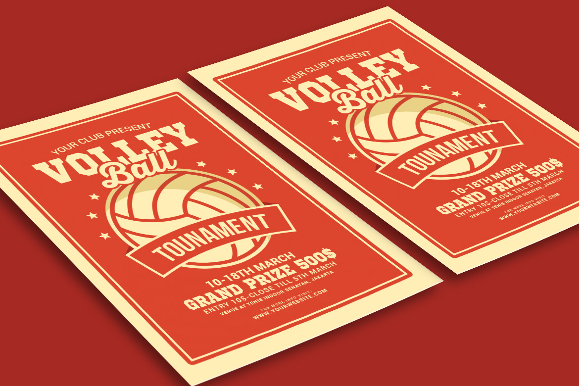 Volleyball Tournament Flyer example image 3