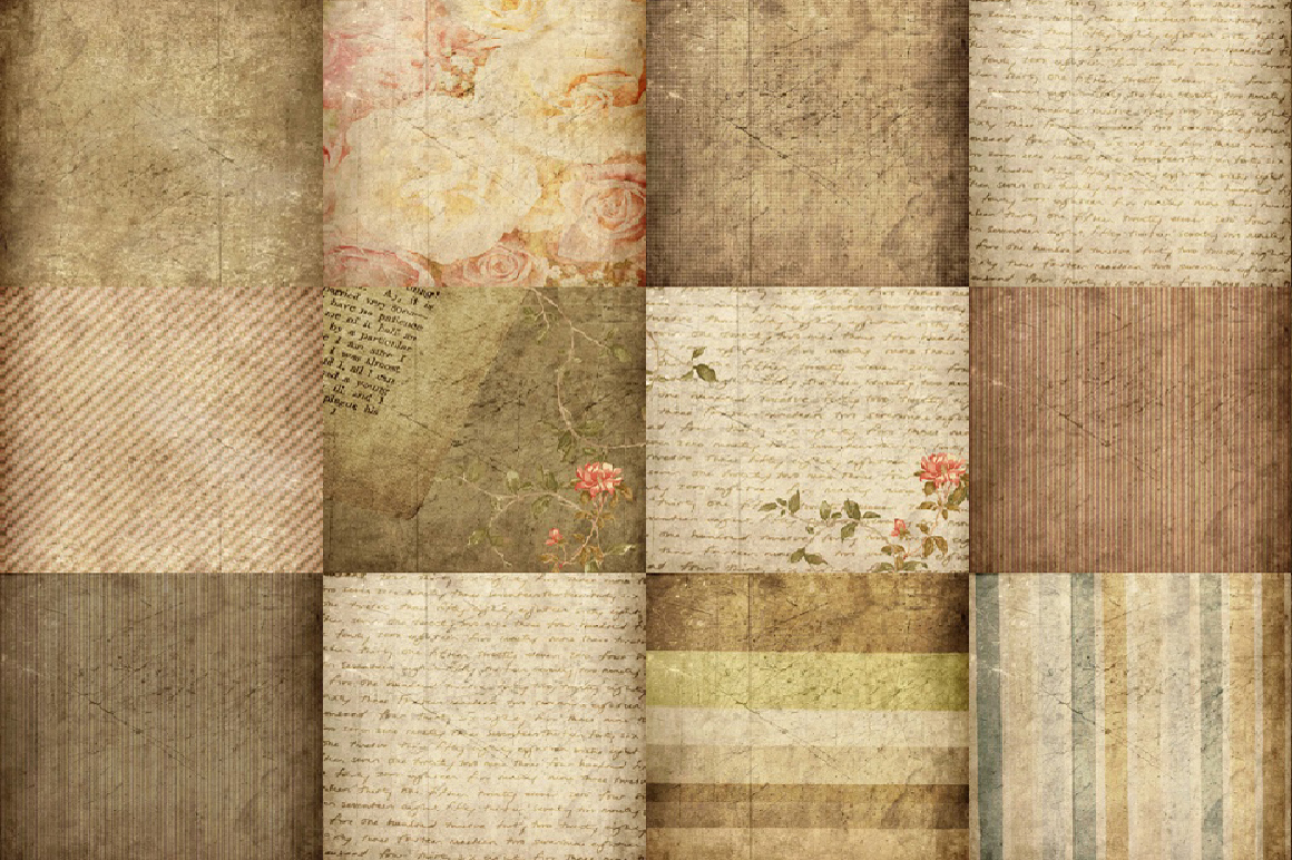 60 Romantic Vintage Background Papers example image 2