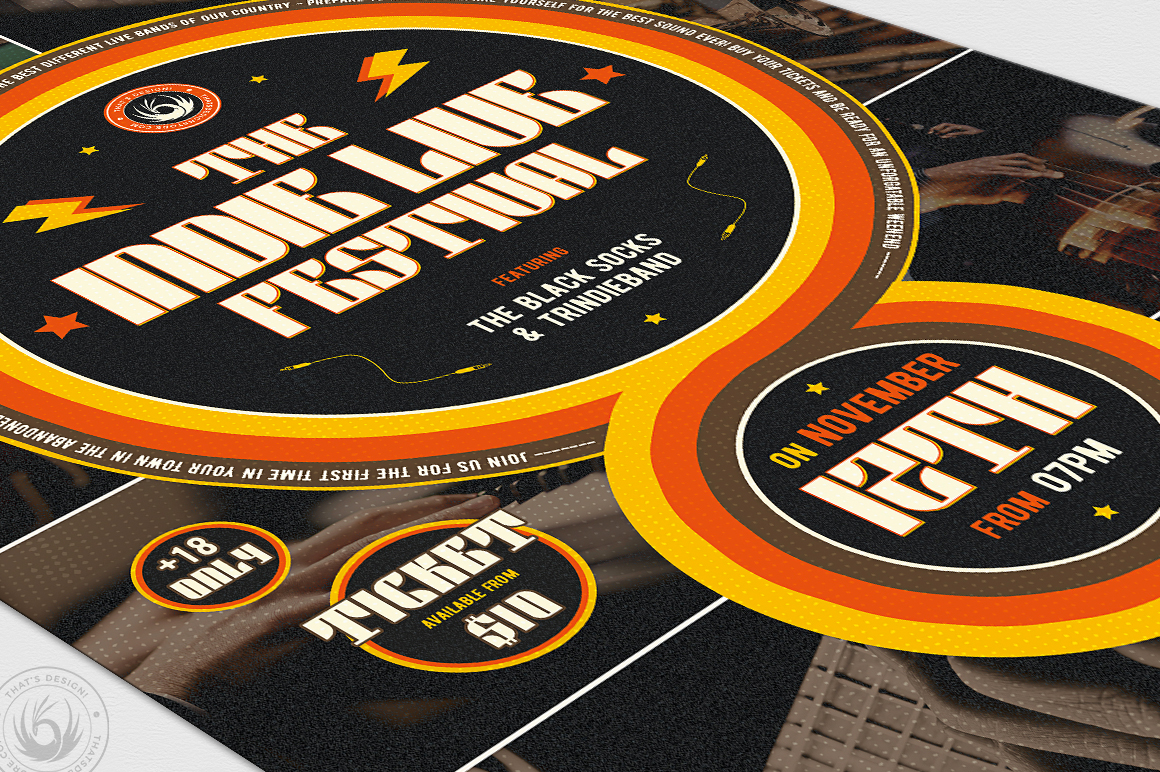 Indie Fest Flyer Template V6 example image 6