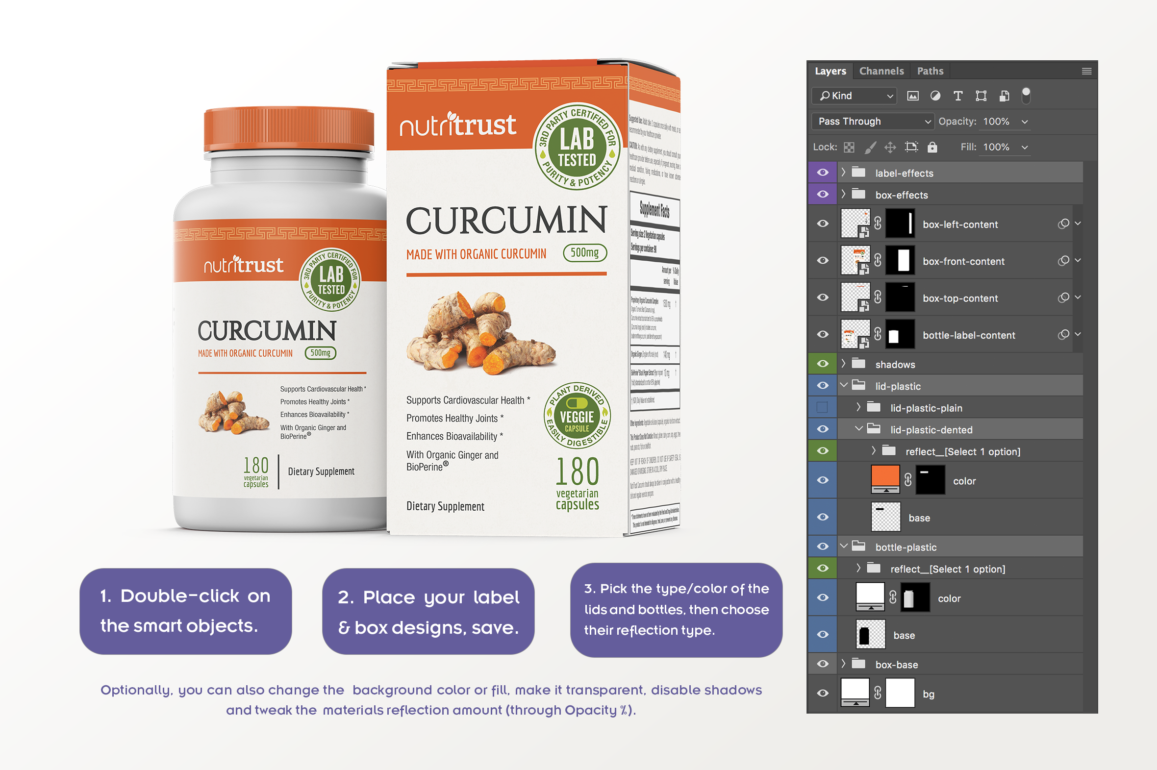Dietary Supplement Mockup v. 1C example image 6