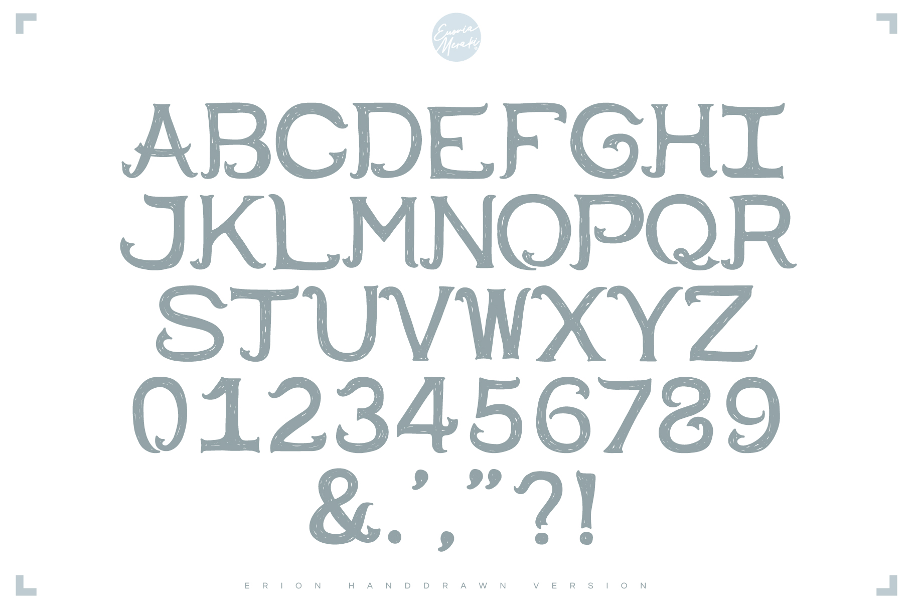 4in1 ERION FONT - Christmas Winter Version example image 2