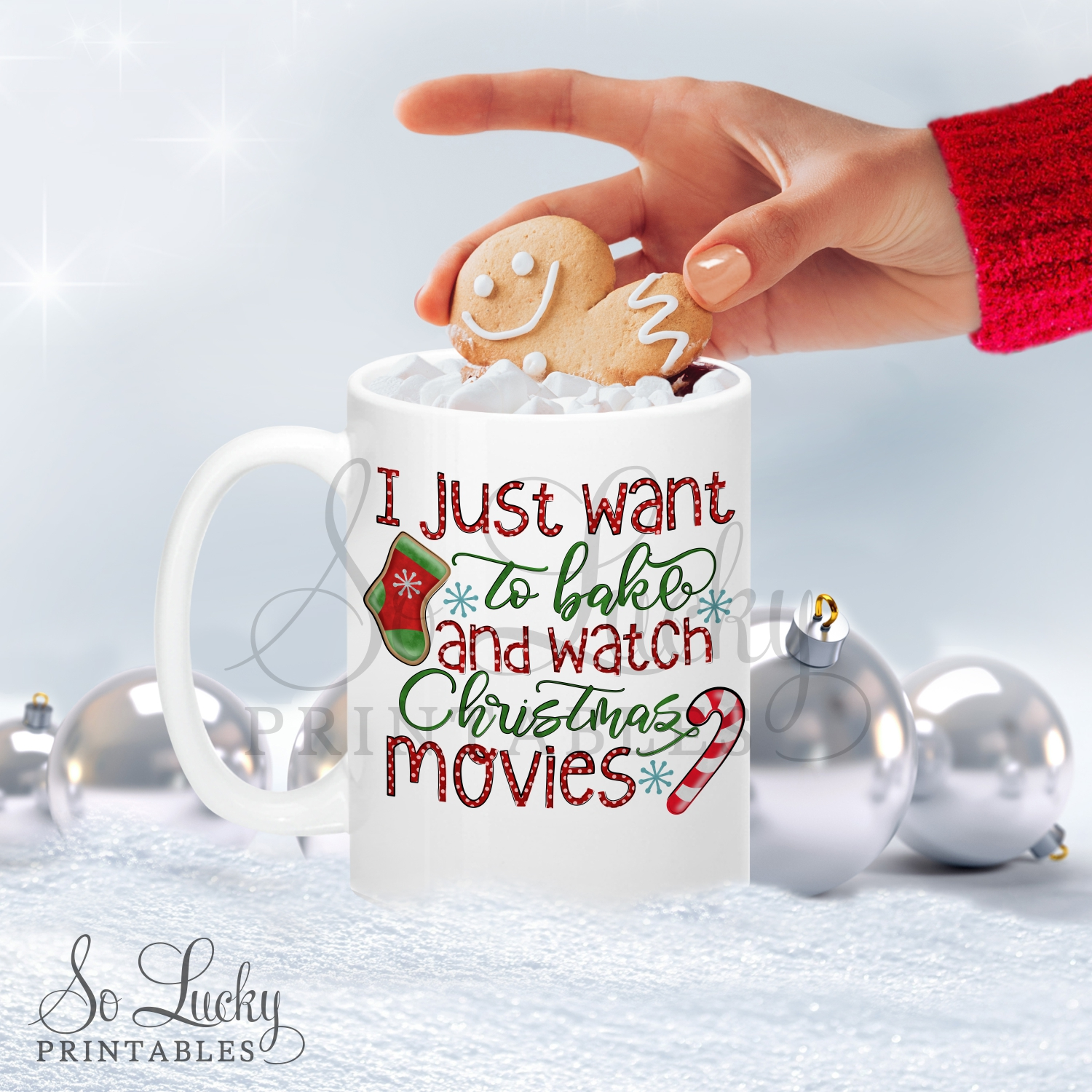 I just want to bake printable sublimation design example image 2