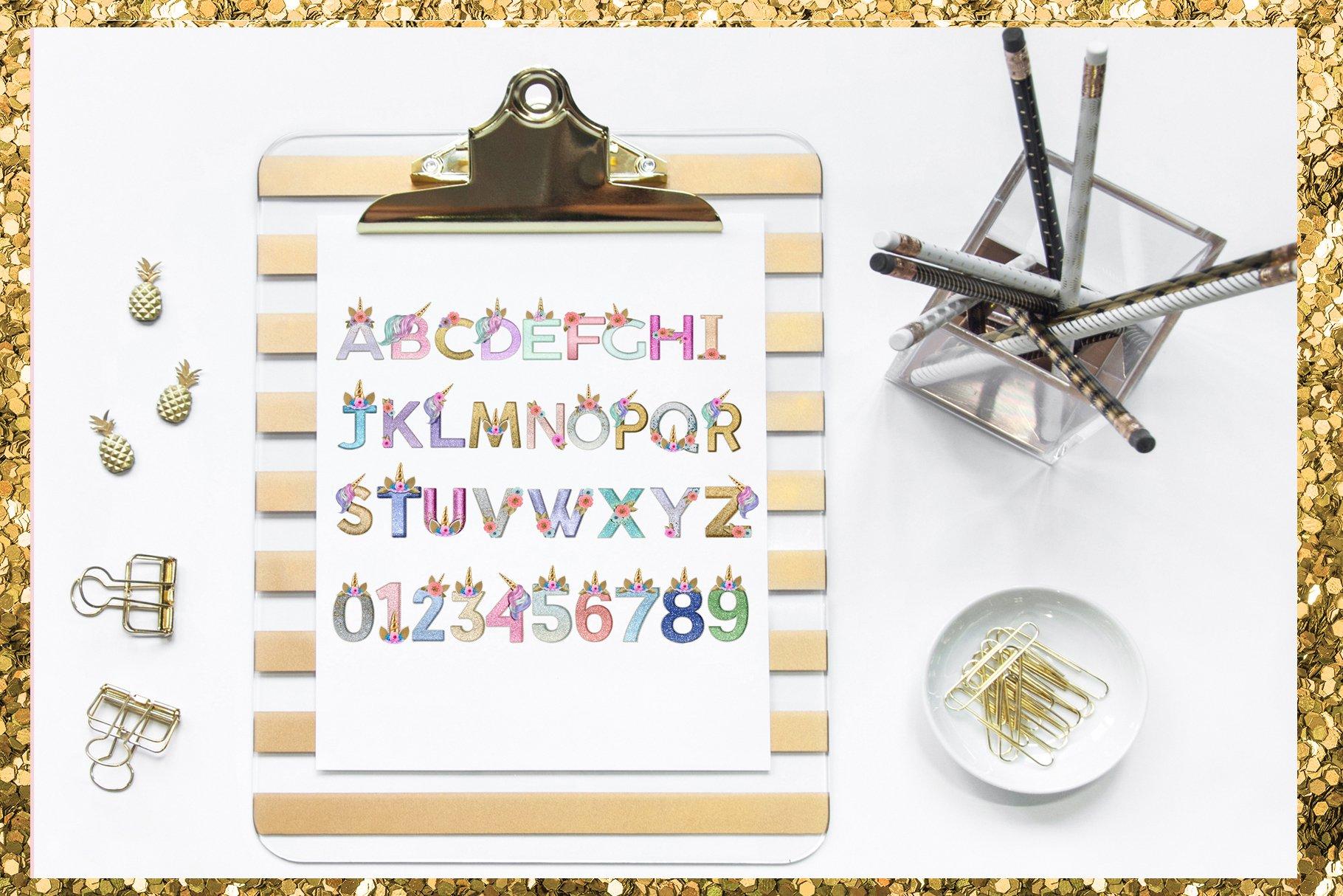 Unicorn Monogram Png Lettering example image 10