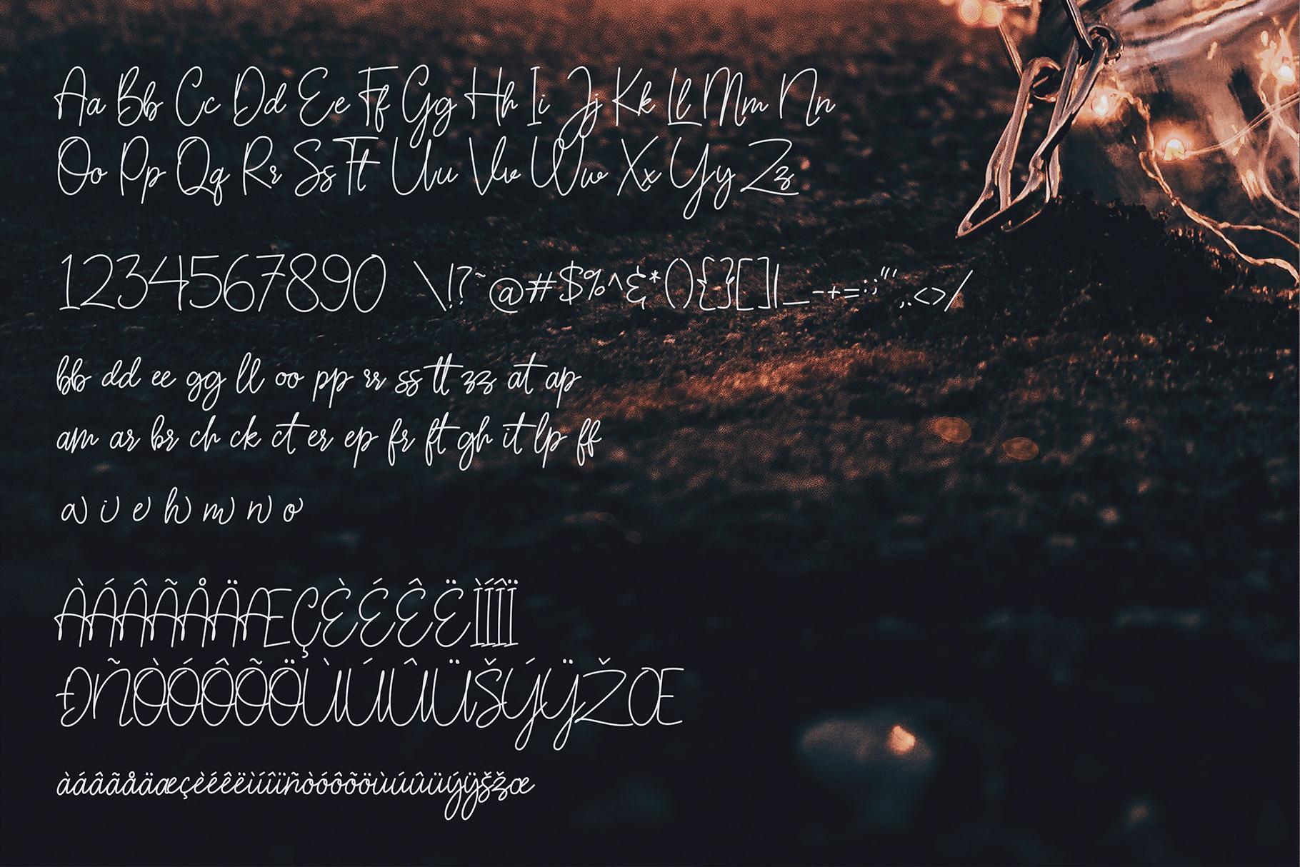 Sarantta   Handwritten Script Font example image 13
