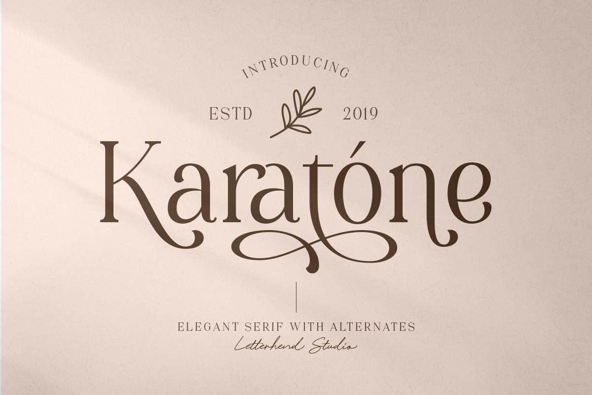 Karatone - Elegant Serif example image 1