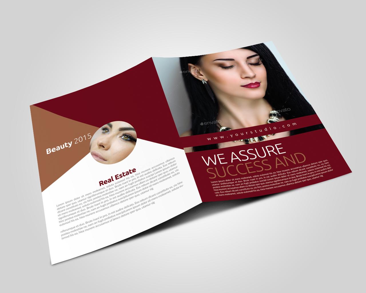 Beauty & Fashion Bifold Brochure example image 2
