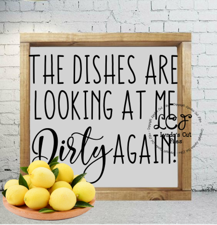 The dishes are looking at me Dirty again//SVG/EPS/DXF example image 2
