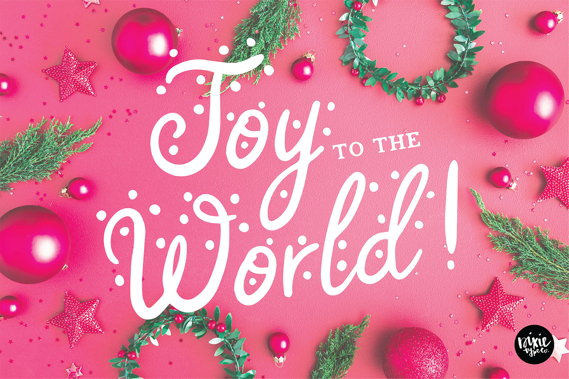 AFTERGLOW a Christmas Snow Holiday Font example image 8