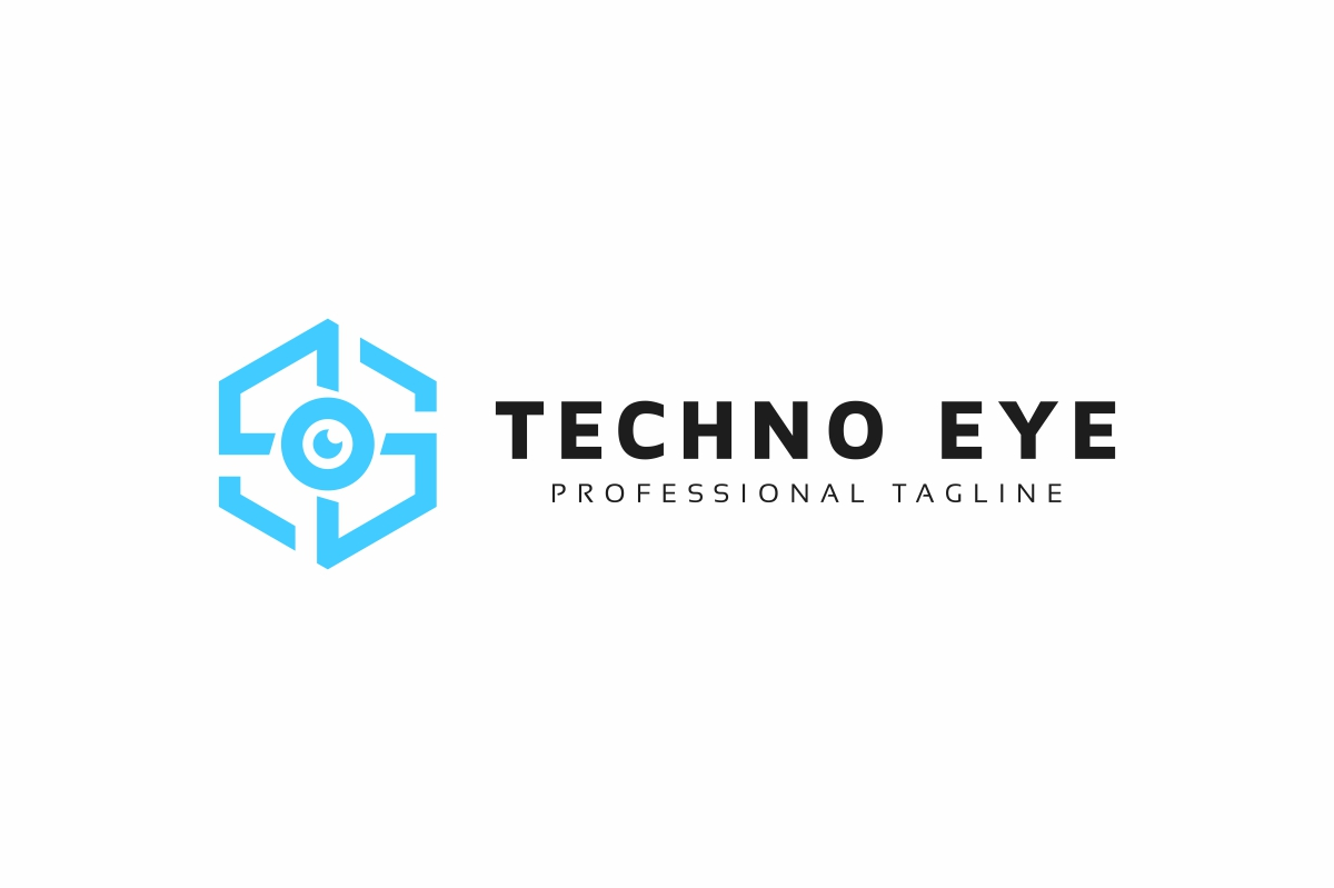 Techno Eye Logo example image 3