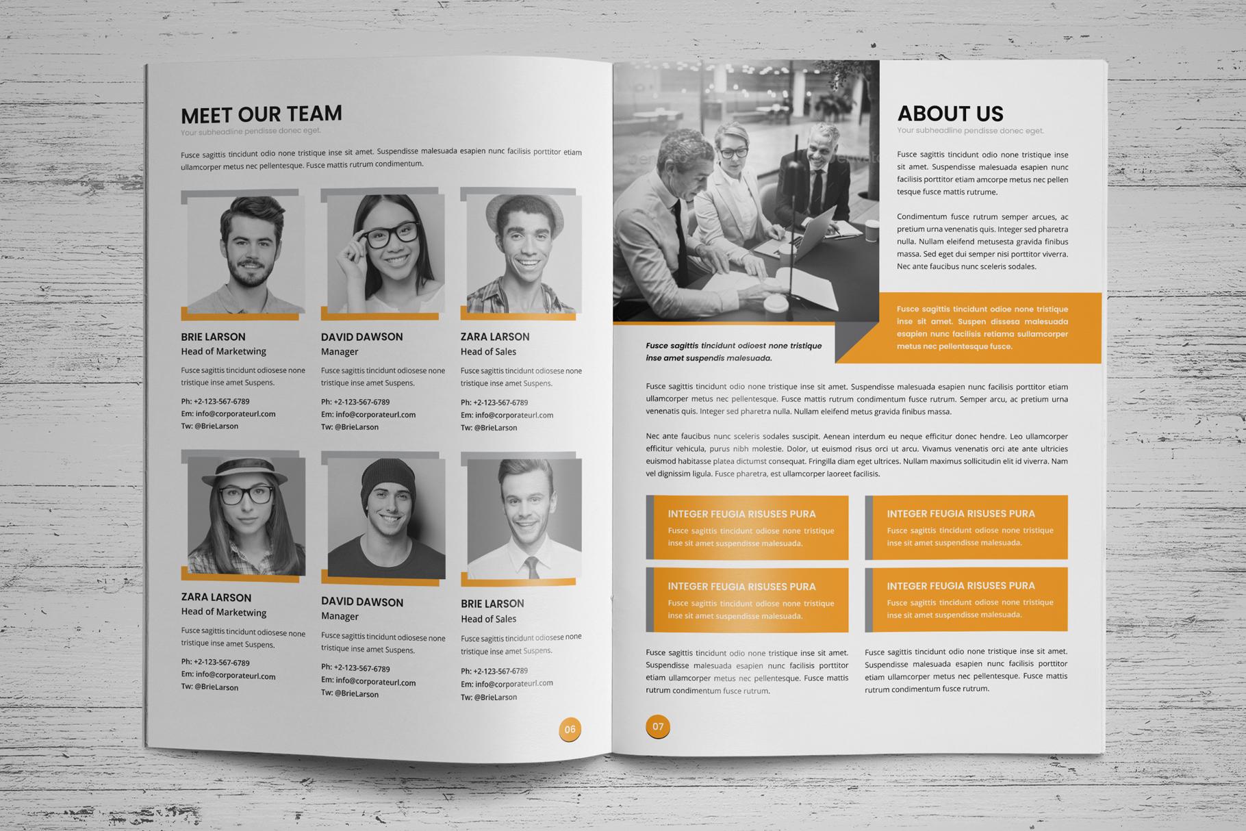 Annual Report Design v6 example image 4