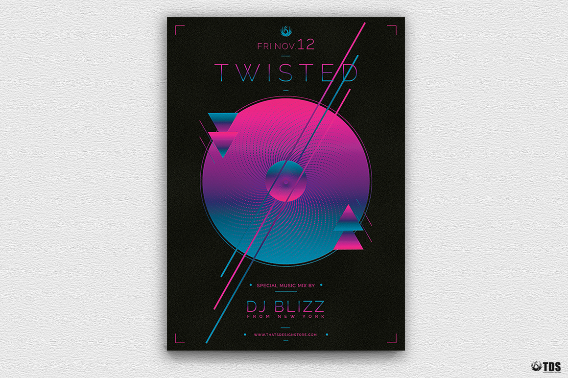 Twisted Session Flyer Template example image 4