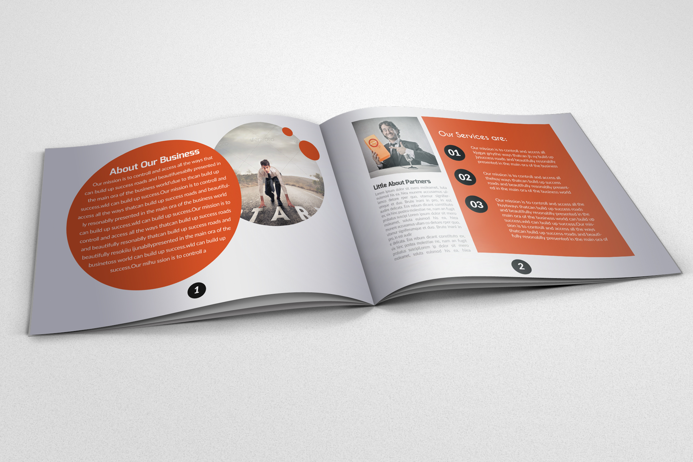 20 Pages Catalogue Business Bifold Brochure example image 4
