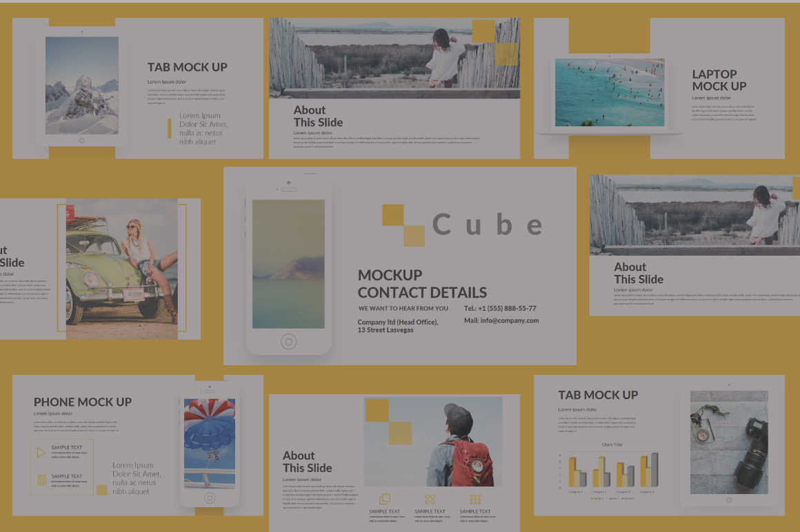 Cube Keynote Template example image 4