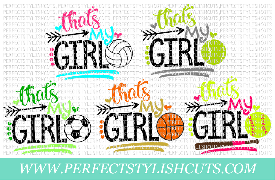 Sports SVG - That's My Girl SVG Bundle example image 1