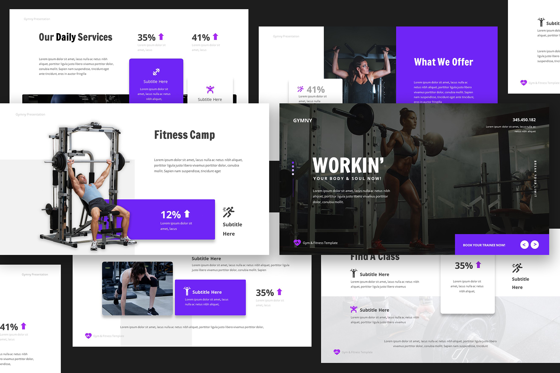 Gym & Fitness Powerpoint example image 2