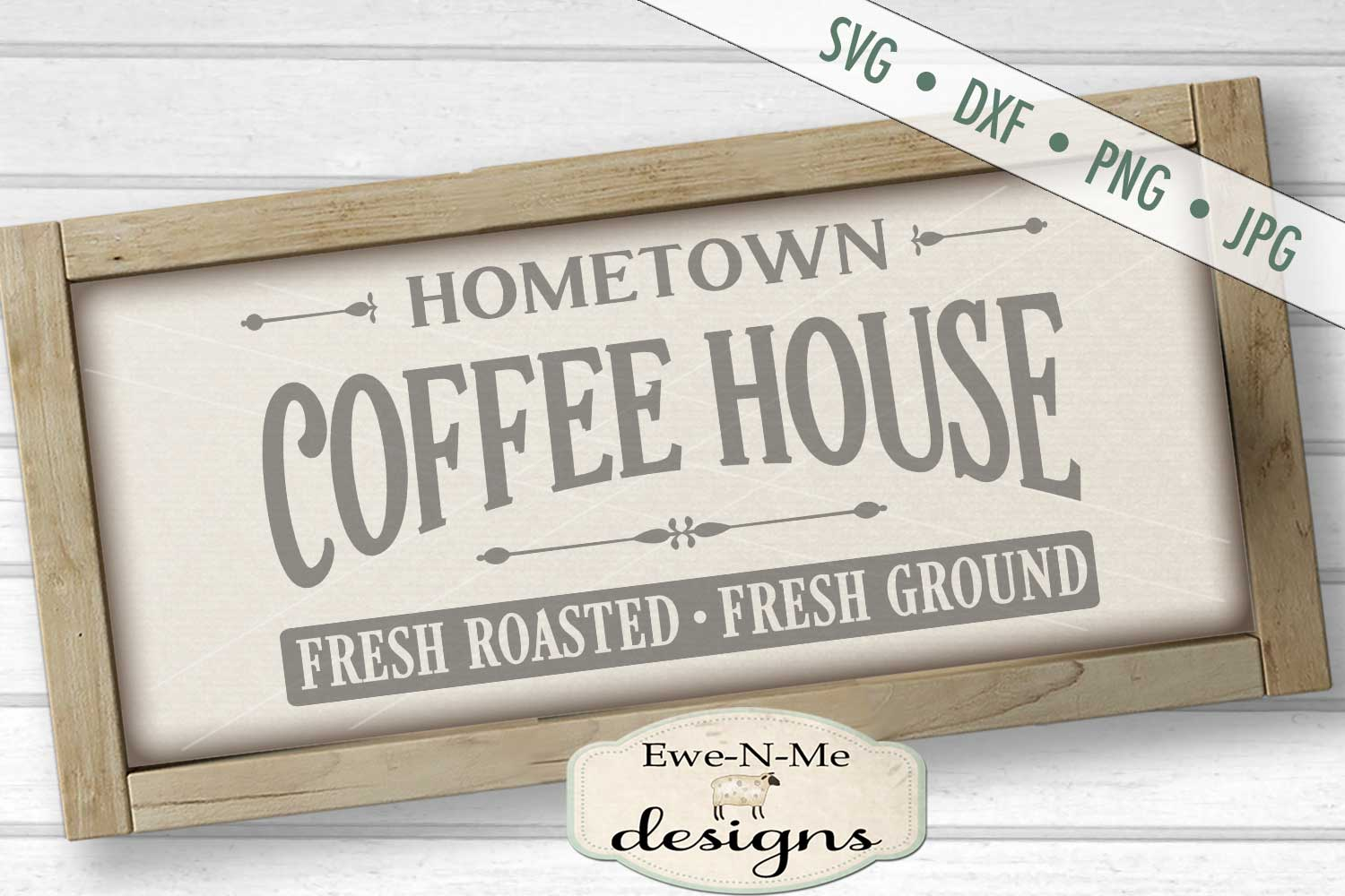 Hometown Coffee House SVG DXF Files example image 1