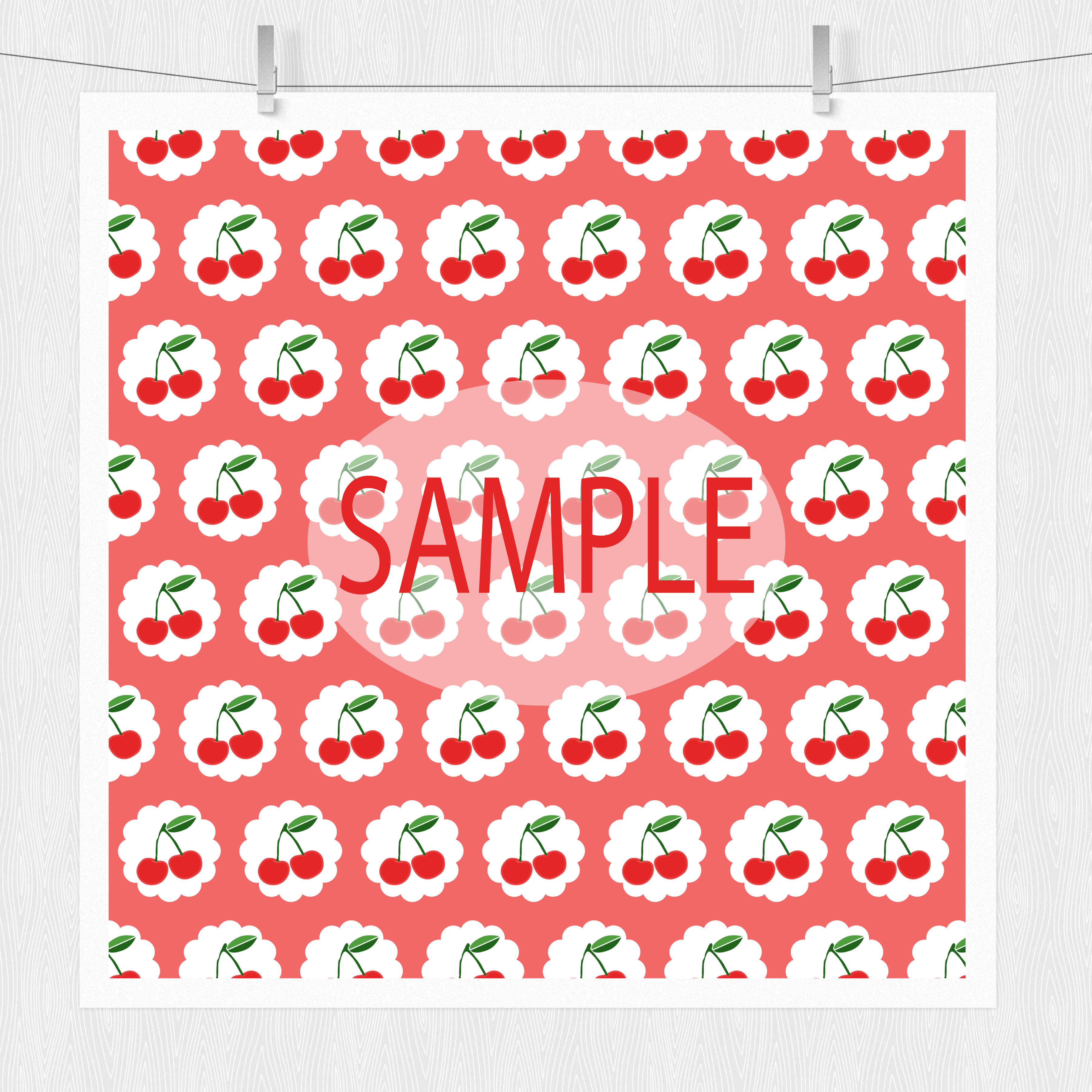 Cherry Digital Scrapbook Paper Pack example image 5