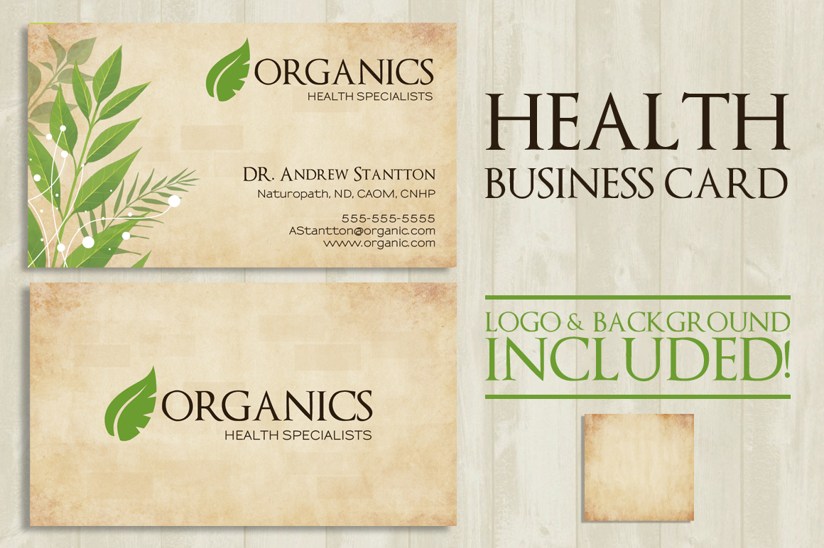 Health Business Card example image 3