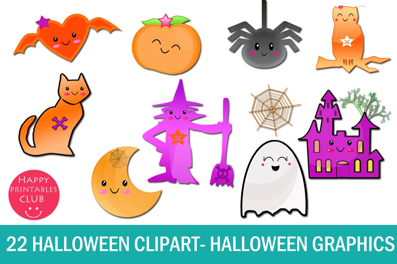 22 Kawaii Halloween Clipart-Halloween Graphics Clipart (1500 x 1000 Pixel)