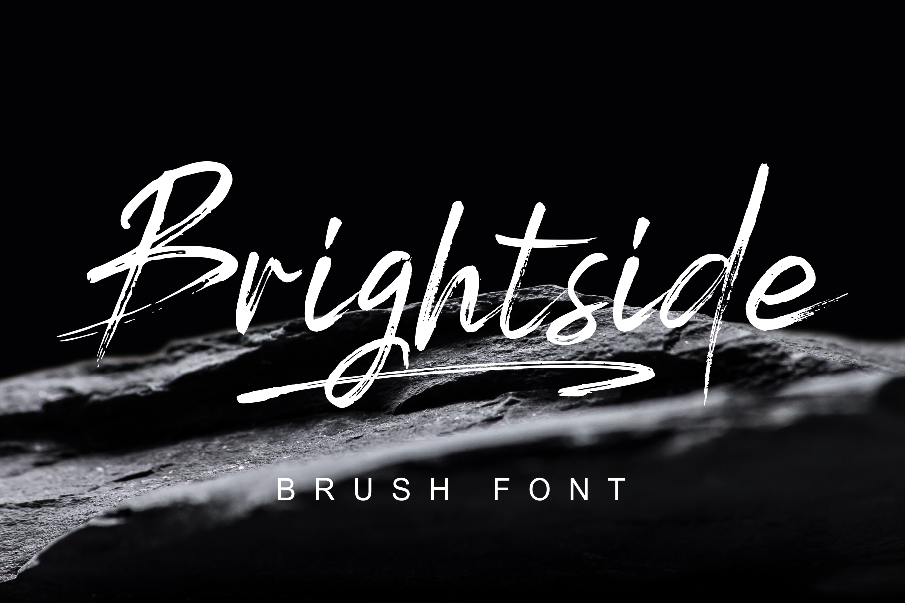 Brightside Brush Fontt example image 1