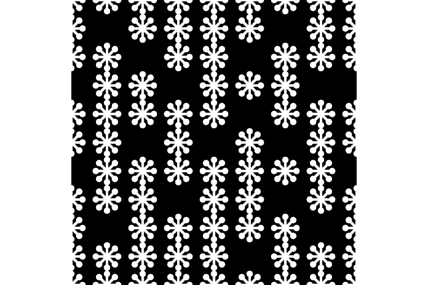 Set of 12 seamless backgrounds with decorative snowflakes.  example image 2