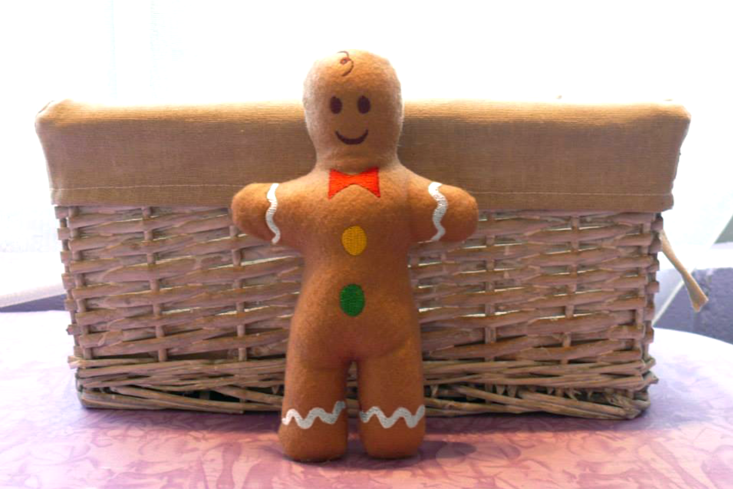 Gingerbread Boy Plush in the Hoop ITH Embroidery Design example image 2