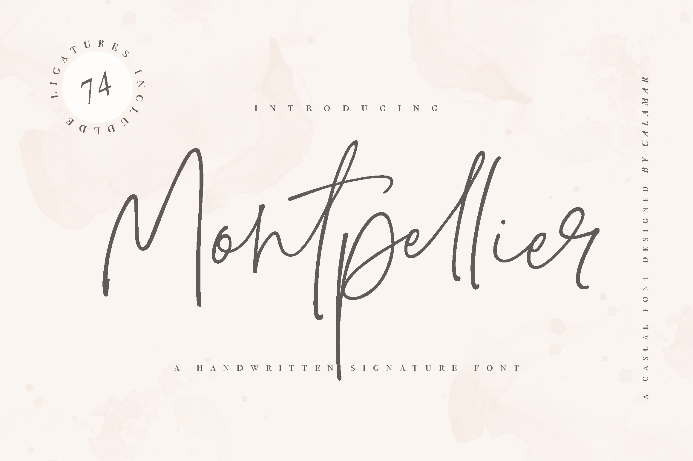 Montpellier | Signature Font example image 1