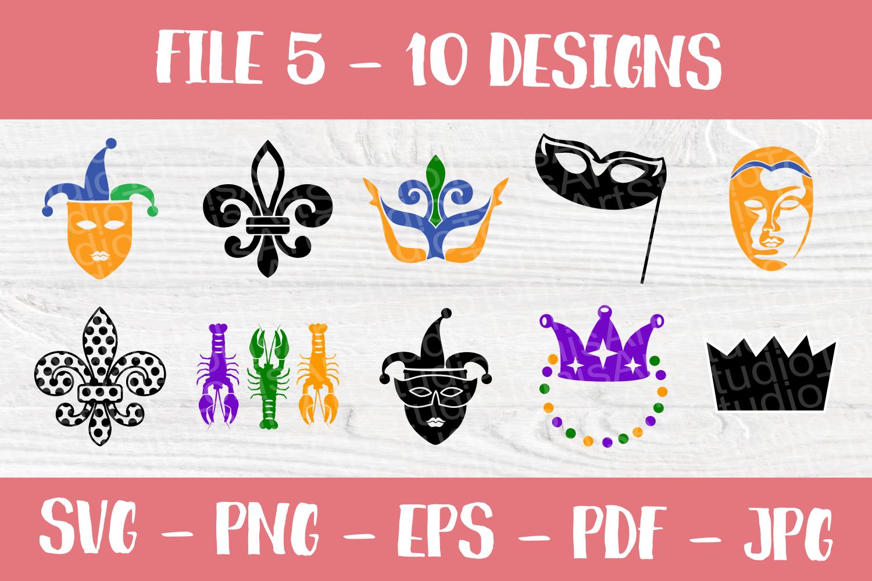 Mardi Gras SVG | SVG Bundle | Cut Files | T shirt Designs example image 6