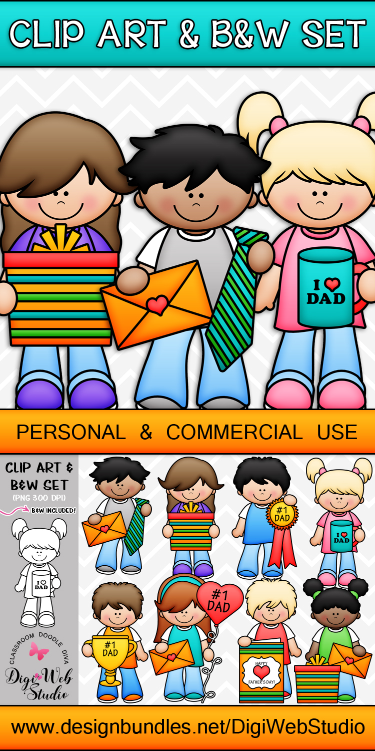 Clip Art / Illustrations - Father's Day Kids example image 2
